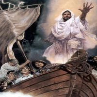 Christ Rested On The Boat Through The Storm